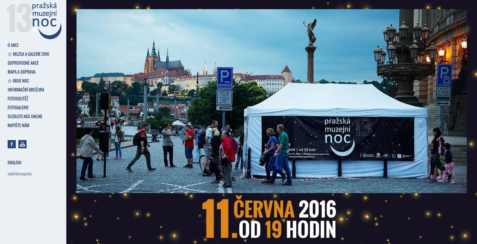 Webové stránky Pražské muzejní noci