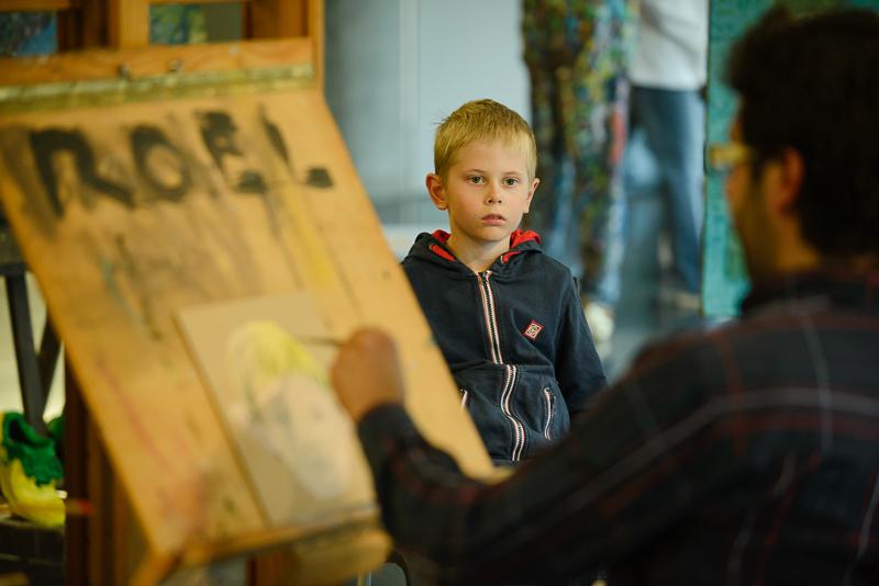 Portrétování v Galerii NTK
