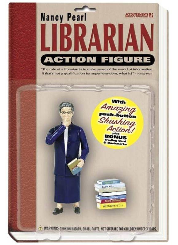 Akční figurka knihovnice Nancy Pearl