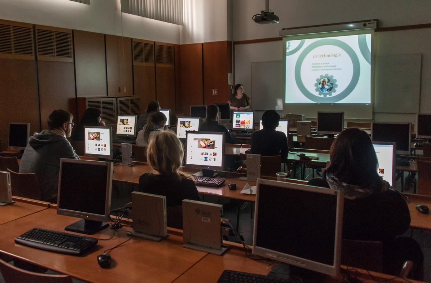 Workshop věnovaný 3D tisku s Petrou Martincovou