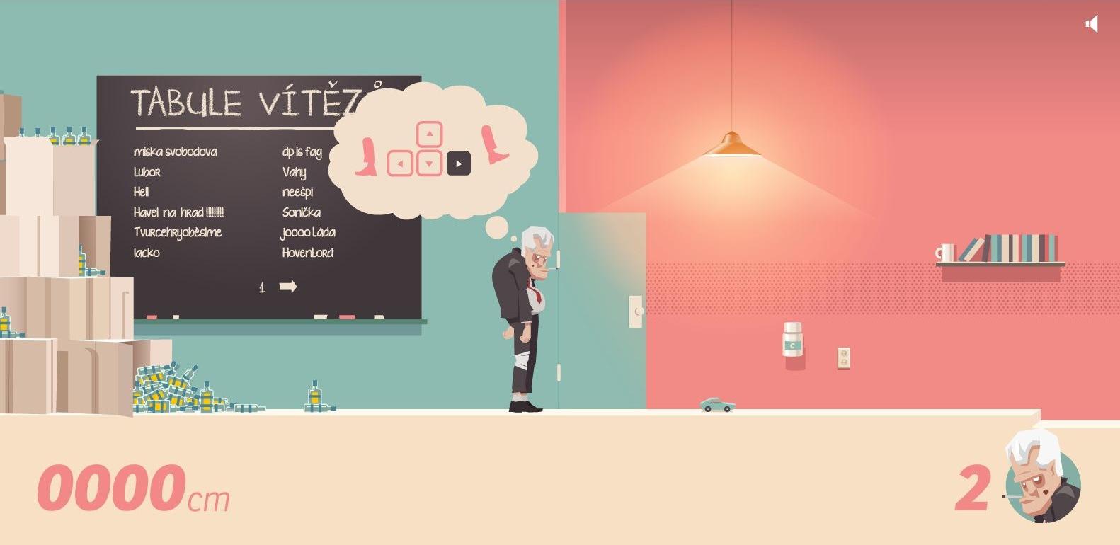Screenshot ze satirické hry Pussywalk