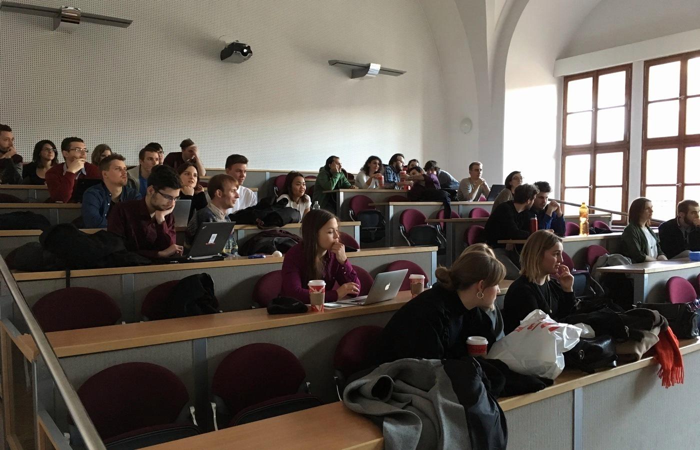 Účastníci konference - studenti výběrového předmětu Games Studies I.