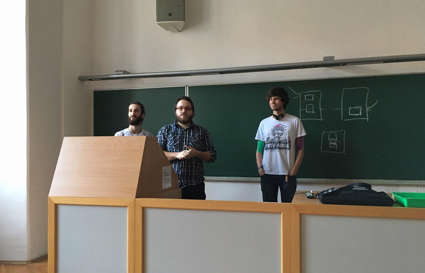Matěj Krejčiřík, Jordan Pansard a Jakub Vozáb