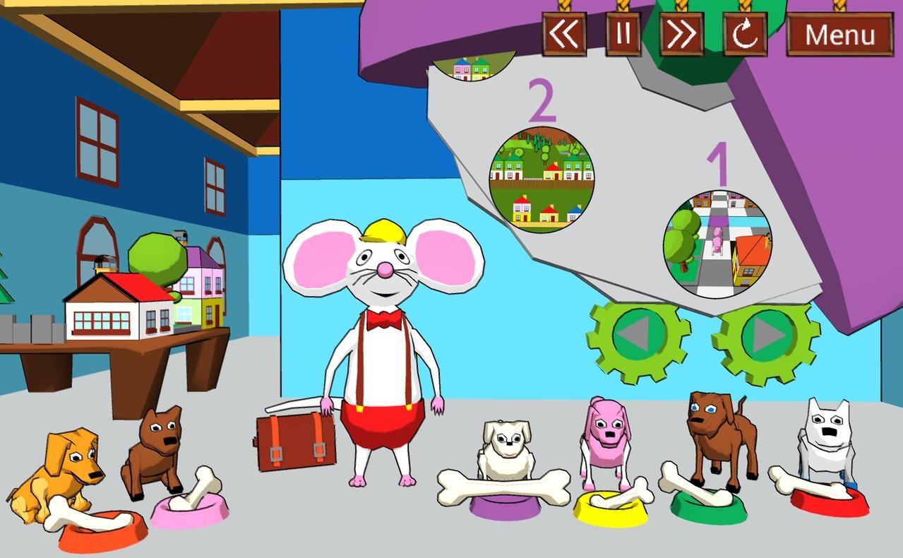 Screenshot ze hry Tam a sem s Myšákem