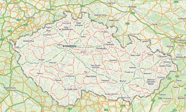 Textové mapy od Seznamu