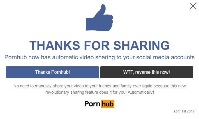 Pop-up serveru PornHub