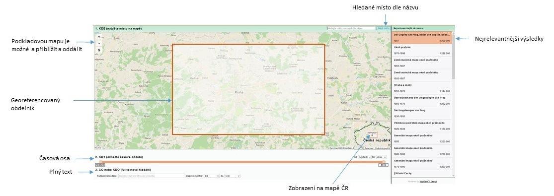 Uživatelské rozhraní MapRank Search vdatabázi GEOBIBLINE
