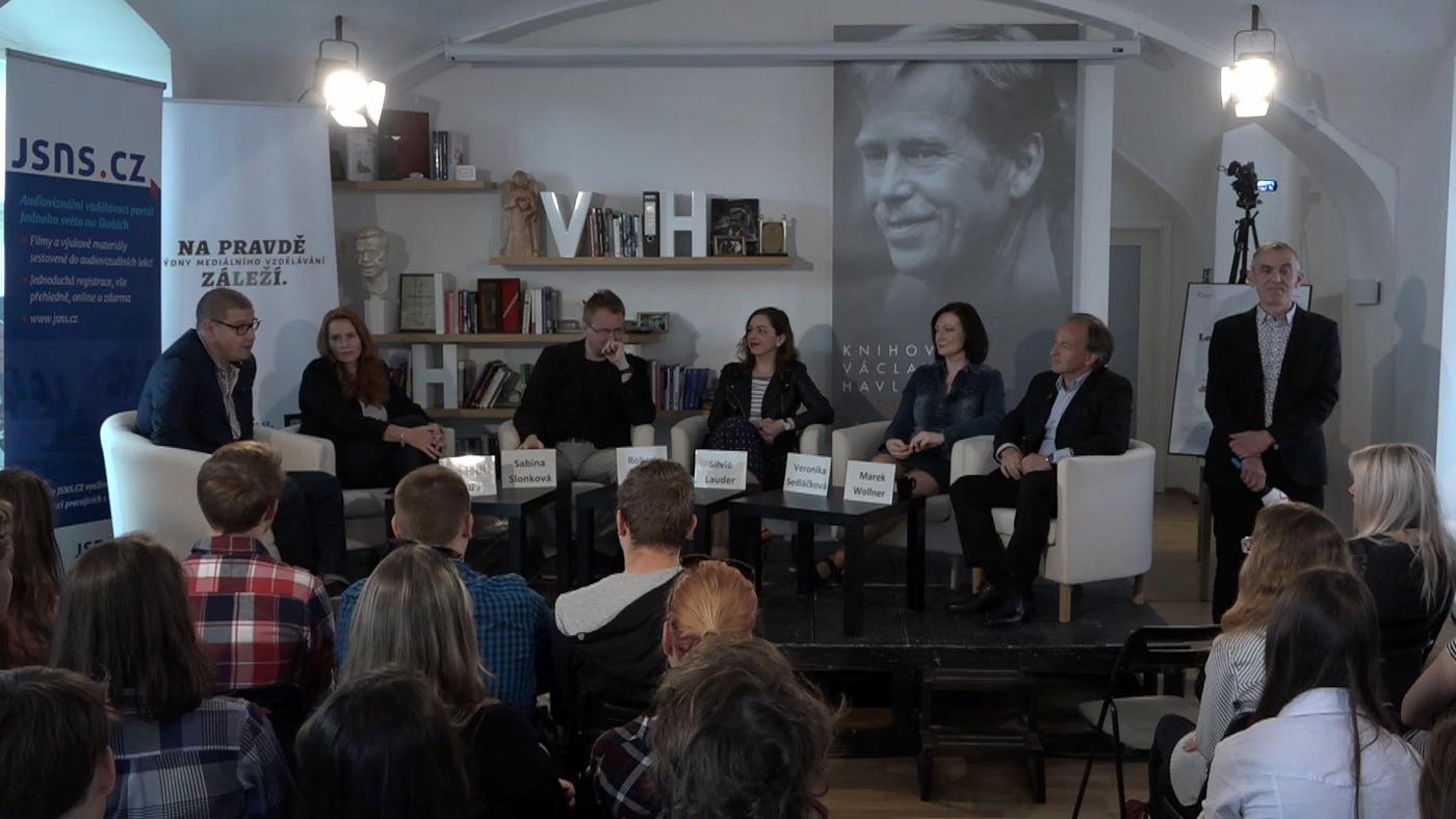 Zahájení diskuse v Knihovně Václava Havla