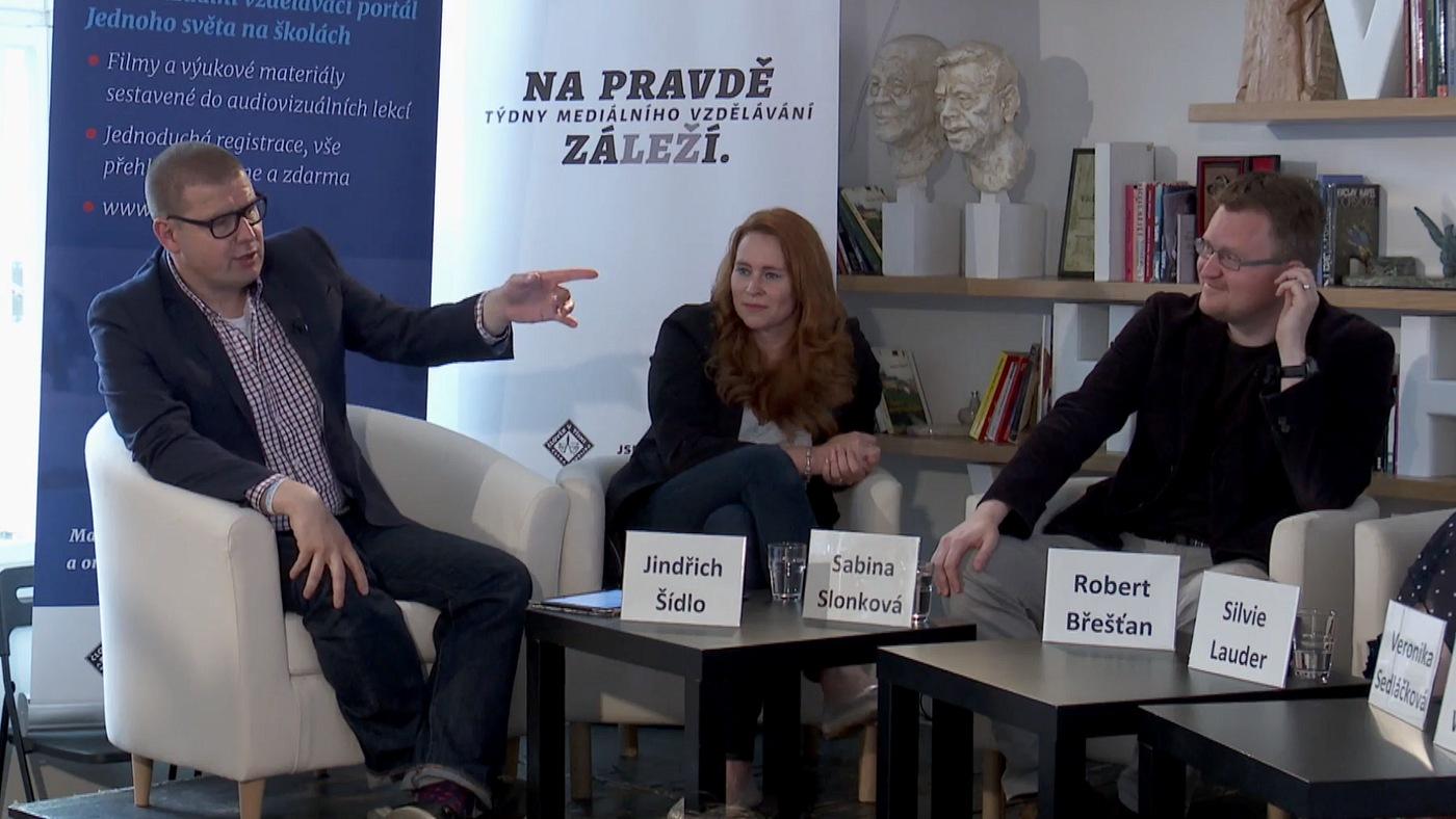Jindřich Šídlo, Sabina Slonková a Robert Břešťan