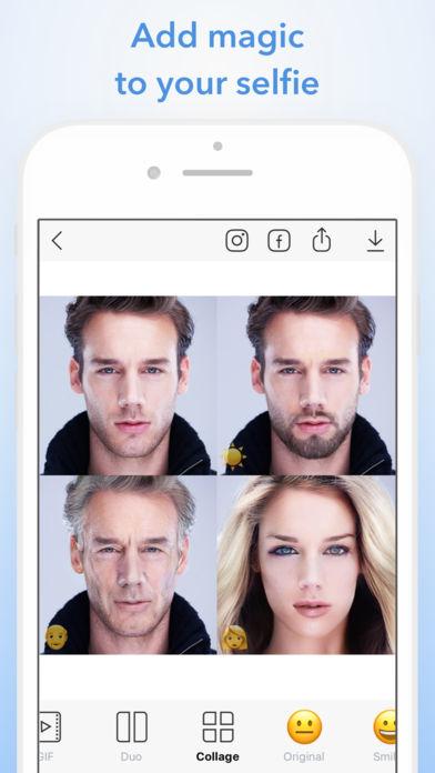 Ukázka aplikace FaceApp