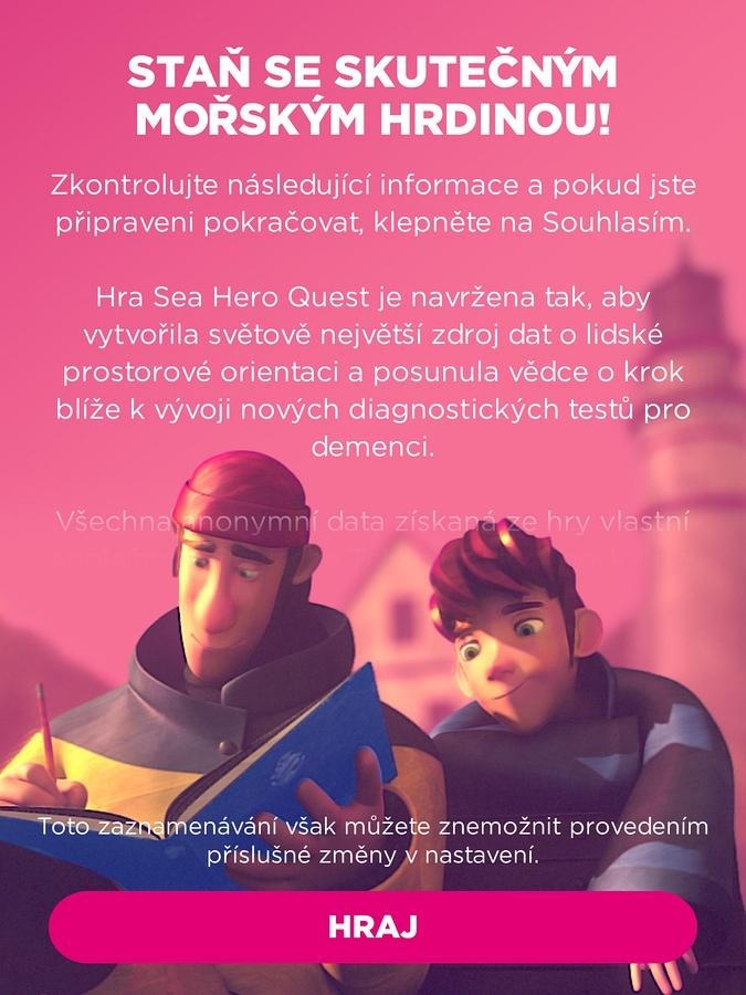 Sea Hero Quest - informace o výzkumu