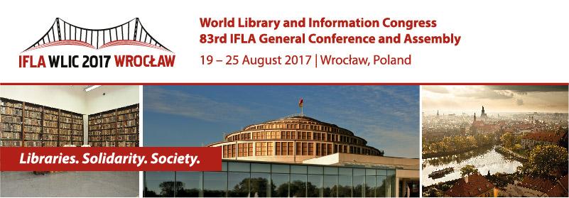 Logo a promo-banner ke konferenci IFLA 2017 v polské Vratislavi