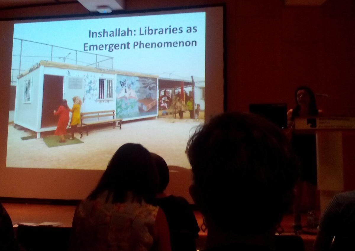 Jedna z knihoven v uprchlickém táboře Za´atari