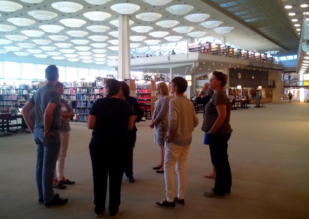 Prohlídka budovy Státní knihovny v Berlíně