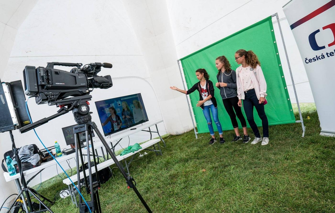 Green-screen České televize