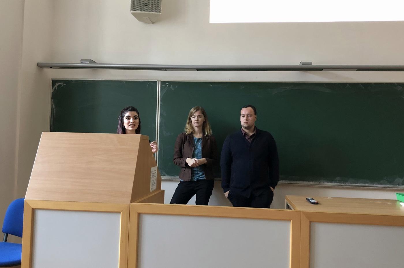 Marine Prost, Anna Šťastná a Tomáš Titěra