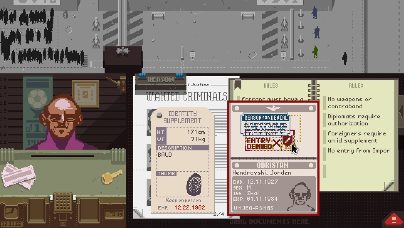 Ukázka ze hry Papers, please
