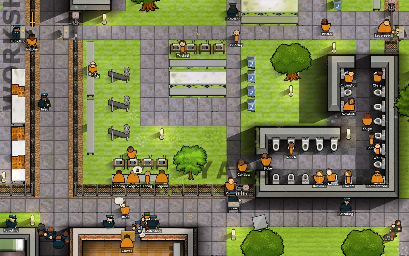 Ukázka ze hry Prison Architect