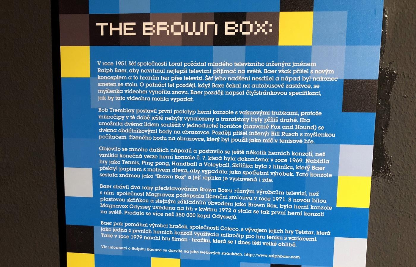 Brown Box, předchůdce první domácí konzole (popisek)