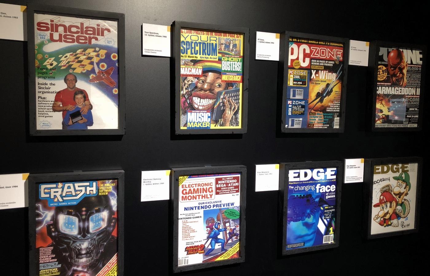 Ukázka starých herních časopisů