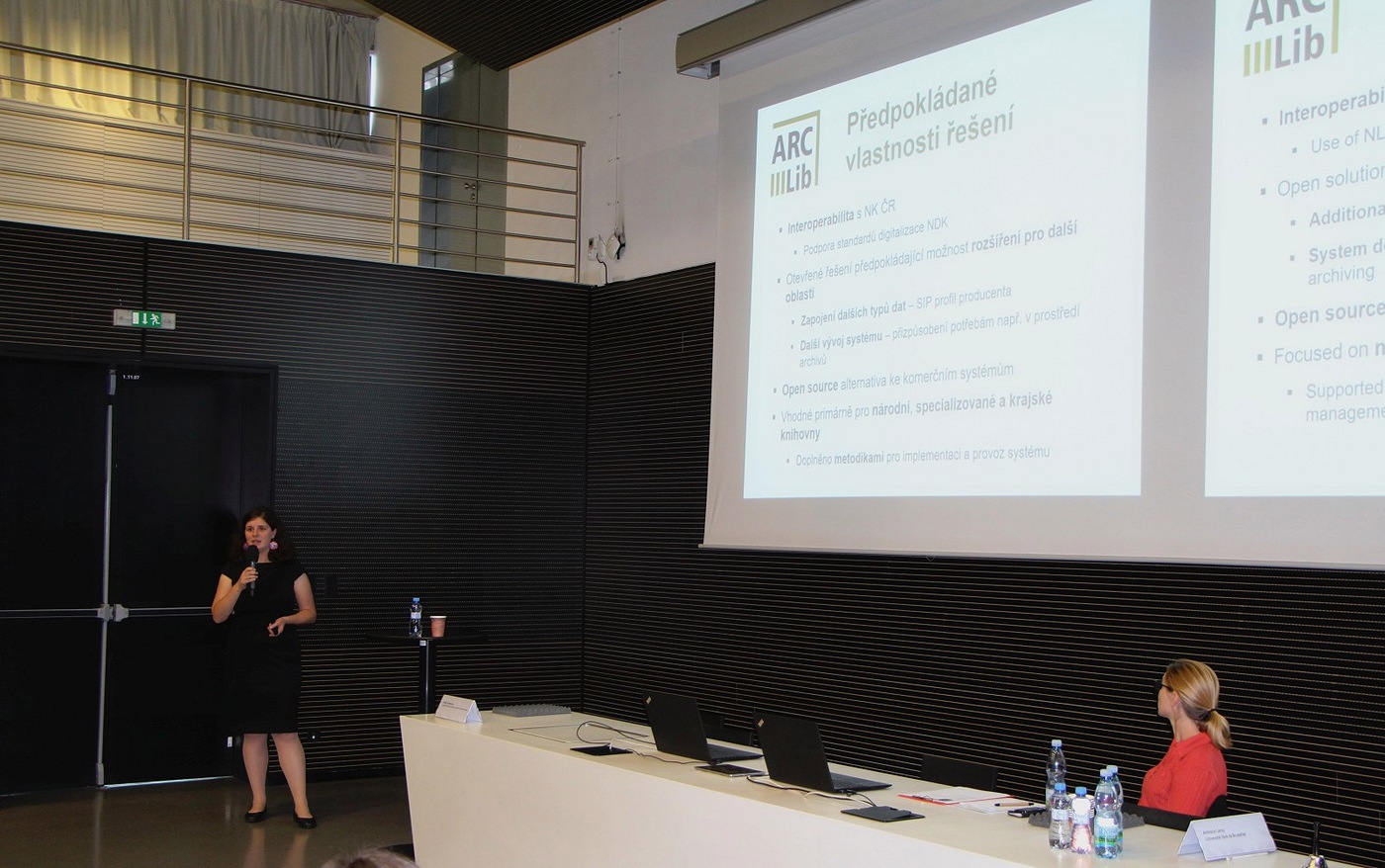 Eliška Pavlásková se společně se Zdeňkem Vaškem věnovala projektu ARCLib