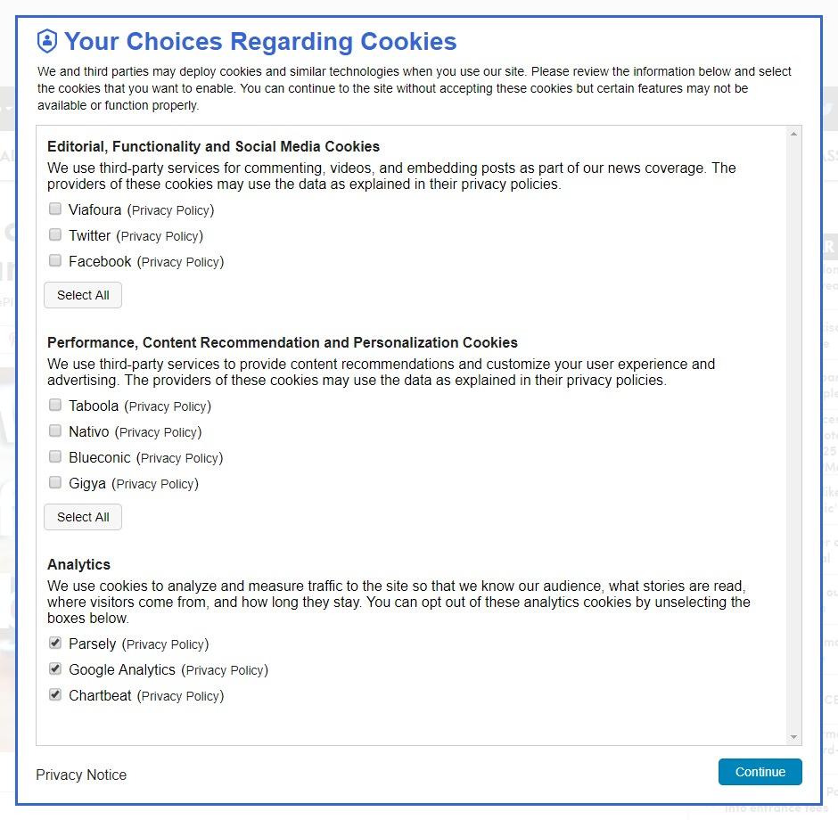 Skoro až nemravně podrobné nastavení cookies