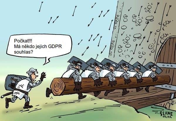 Vtip na téma GDPR