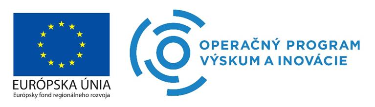 Loga: Európska únia a Operačný program Výskum a inovácie