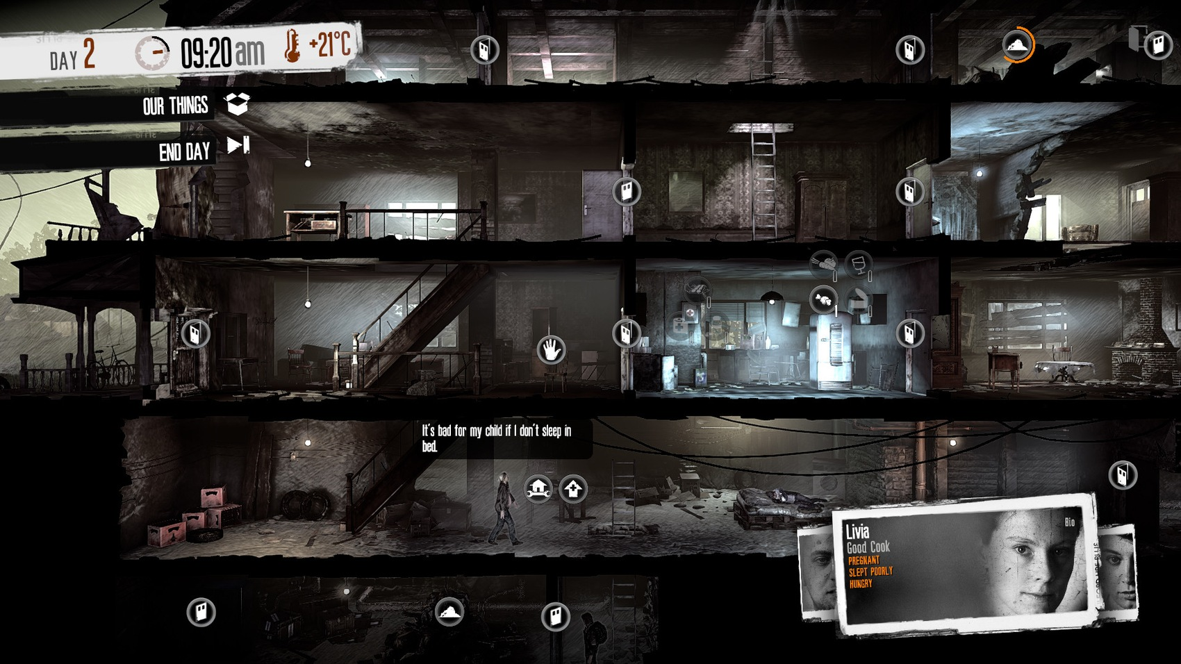 Screenshot ze hry This War of Mine
