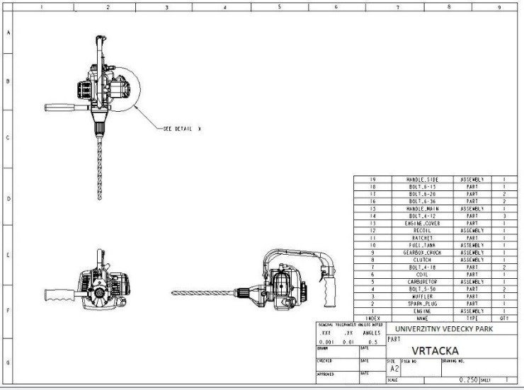 Príklad 2D návrhu