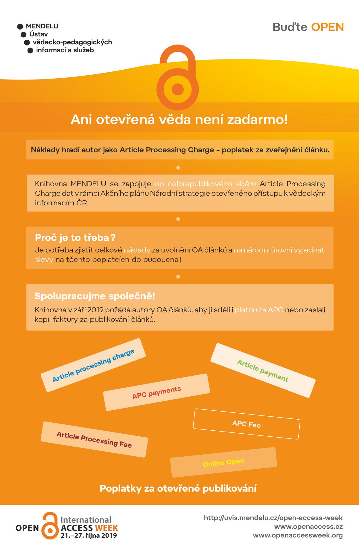 Propagační poster MENDELU