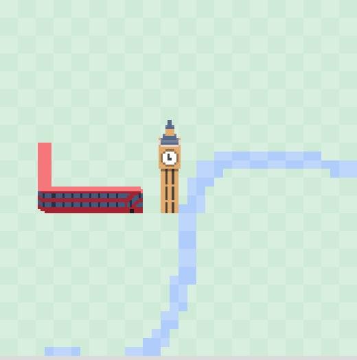 Dopravní had v Google Mapách (Londýn)