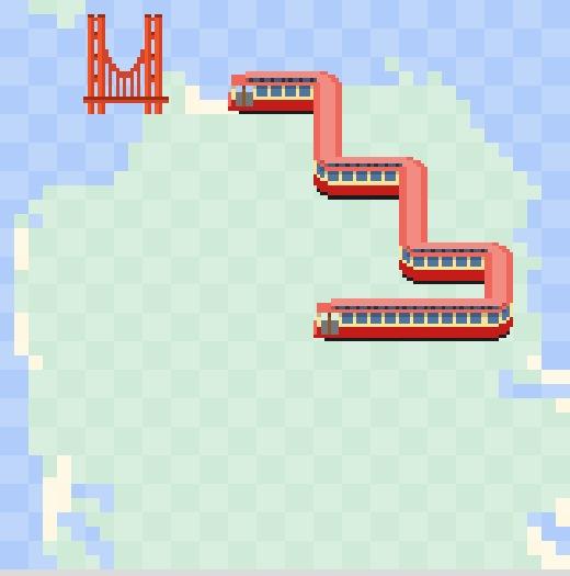 Dopravní had v Google Mapách (San Francisco)
