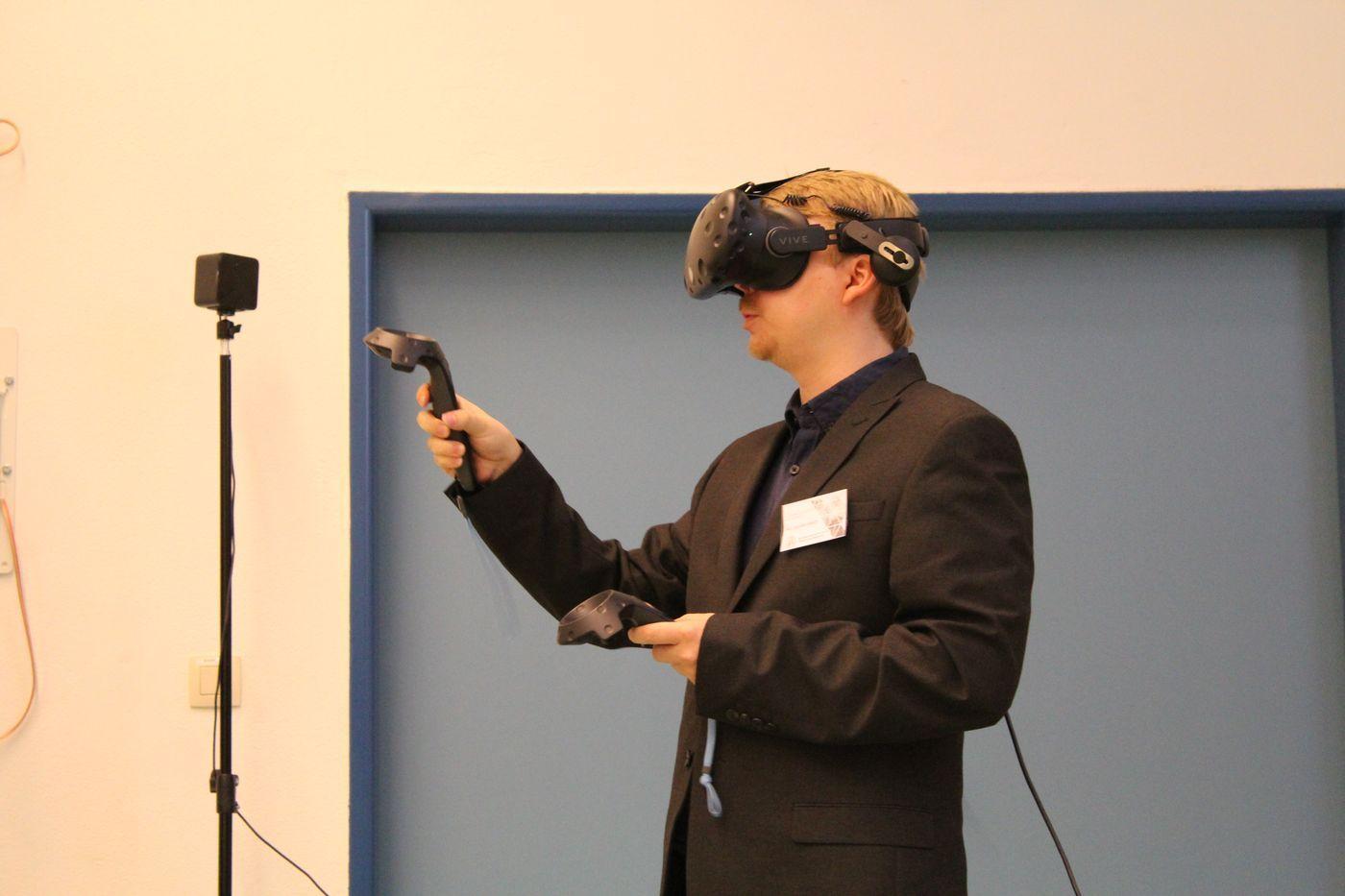 Ukázka VR systému HTC Vive