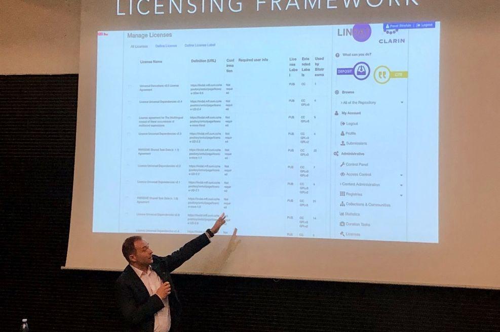 Ukázka licencování v repozitáři LINDAT/CLARIN