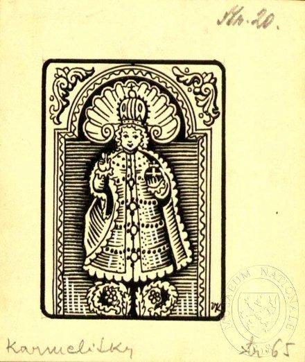Pražské Jezulátko. Ilustrace Vojtěcha Kubašty pro knihu Pražské Karmelitky